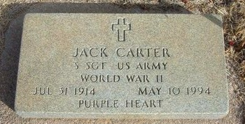 CARTER (VETERAN WWII), JACK - Prowers County, Colorado | JACK CARTER (VETERAN WWII) - Colorado Gravestone Photos