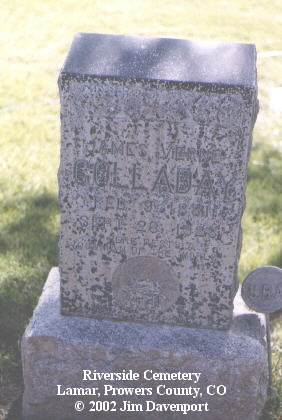 COLLADAY, JAMES VERNE - Prowers County, Colorado | JAMES VERNE COLLADAY - Colorado Gravestone Photos