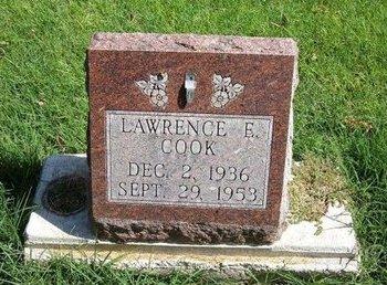 COOK, LAWRENCE E - Prowers County, Colorado | LAWRENCE E COOK - Colorado Gravestone Photos