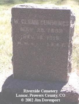 CUMMINGS, W. GLEN - Prowers County, Colorado | W. GLEN CUMMINGS - Colorado Gravestone Photos