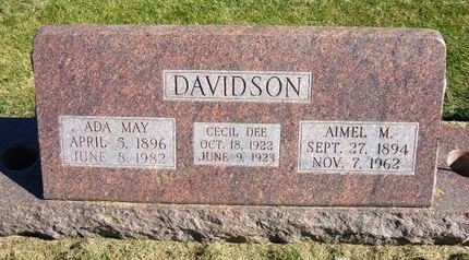 DAVIDSON, CECIL DEE - Prowers County, Colorado | CECIL DEE DAVIDSON - Colorado Gravestone Photos