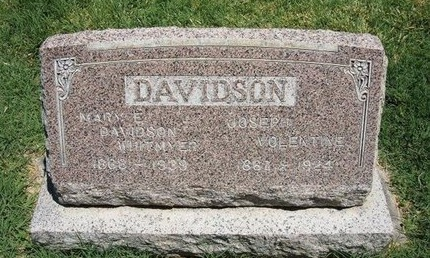DAVIDSON, MARY E WHITMYER - Prowers County, Colorado | MARY E WHITMYER DAVIDSON - Colorado Gravestone Photos