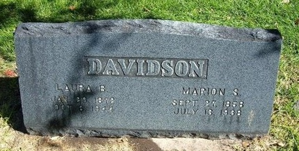 DAVIDSON, LAURA BELLE - Prowers County, Colorado | LAURA BELLE DAVIDSON - Colorado Gravestone Photos