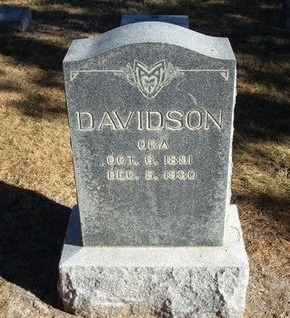 DAVIDSON, ORA - Prowers County, Colorado | ORA DAVIDSON - Colorado Gravestone Photos