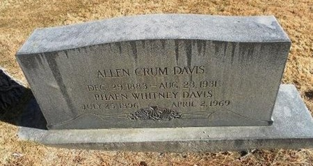 DAVIS, ALLEN CRUM - Prowers County, Colorado | ALLEN CRUM DAVIS - Colorado Gravestone Photos