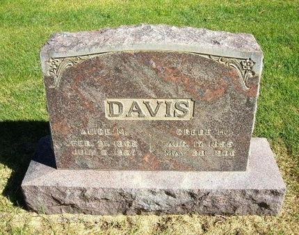 DAVIS, ALICE M - Prowers County, Colorado | ALICE M DAVIS - Colorado Gravestone Photos