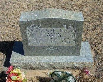 DAVIS, EDGAR MONROE - Prowers County, Colorado | EDGAR MONROE DAVIS - Colorado Gravestone Photos