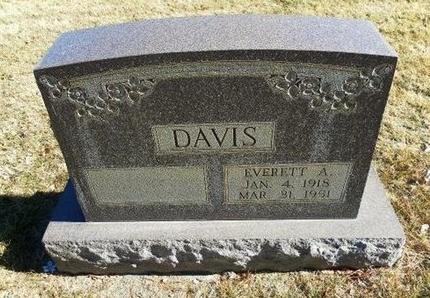 DAVIS, EVERETT E - Prowers County, Colorado | EVERETT E DAVIS - Colorado Gravestone Photos