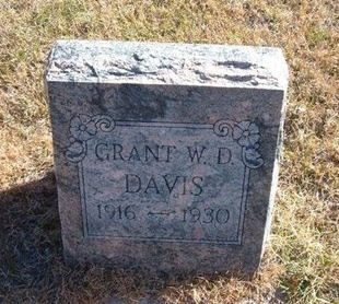 DAVIS, GRANT W D - Prowers County, Colorado | GRANT W D DAVIS - Colorado Gravestone Photos