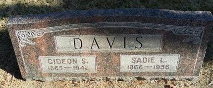 DAVIS, SADIE L - Prowers County, Colorado | SADIE L DAVIS - Colorado Gravestone Photos