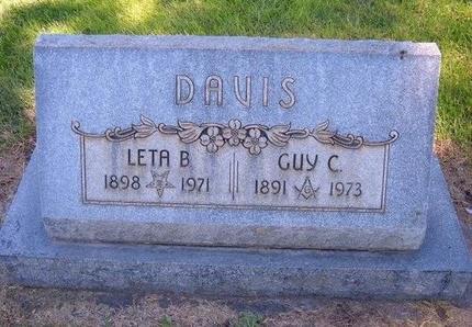 DAVIS, GUY C - Prowers County, Colorado   GUY C DAVIS - Colorado Gravestone Photos
