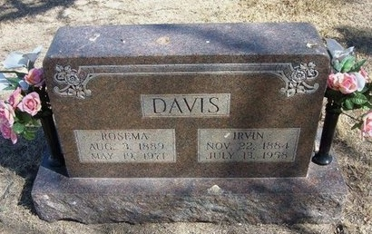 DAVIS, IRVIN - Prowers County, Colorado | IRVIN DAVIS - Colorado Gravestone Photos