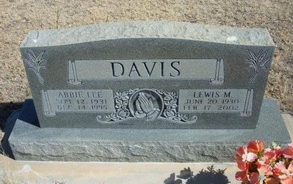 DAVIS, LEWIS M - Prowers County, Colorado | LEWIS M DAVIS - Colorado Gravestone Photos