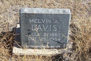 DAVIS, MELVIN A - Prowers County, Colorado   MELVIN A DAVIS - Colorado Gravestone Photos