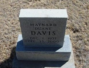 DAVIS, MAYNARD DUANE - Prowers County, Colorado | MAYNARD DUANE DAVIS - Colorado Gravestone Photos