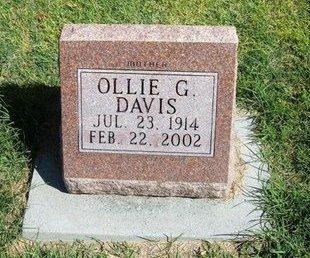 DAVIS, OLLIE G - Prowers County, Colorado | OLLIE G DAVIS - Colorado Gravestone Photos