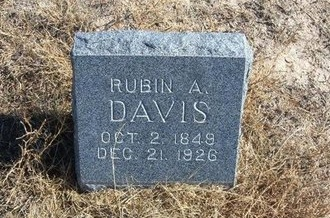 DAVIS, RUBIN A - Prowers County, Colorado | RUBIN A DAVIS - Colorado Gravestone Photos