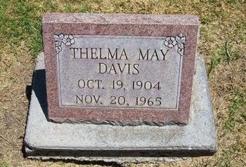 DAVIS, THELMA MAY - Prowers County, Colorado | THELMA MAY DAVIS - Colorado Gravestone Photos