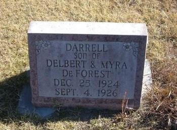 DEFOREST, DARRELL - Prowers County, Colorado   DARRELL DEFOREST - Colorado Gravestone Photos