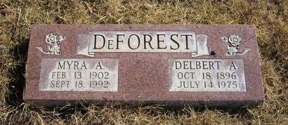 DEFOREST, MYRA A - Prowers County, Colorado | MYRA A DEFOREST - Colorado Gravestone Photos