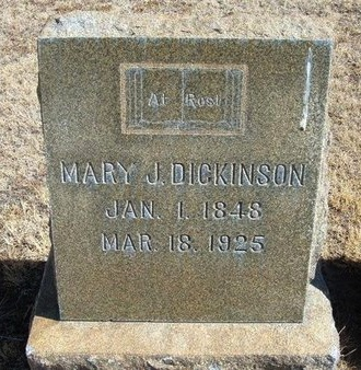 DICKINSON, MARY JANE - Prowers County, Colorado | MARY JANE DICKINSON - Colorado Gravestone Photos