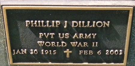 DILLION (VETERAN WWII), PHILLIP J - Prowers County, Colorado | PHILLIP J DILLION (VETERAN WWII) - Colorado Gravestone Photos