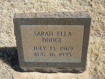 "DODGE, SARAH ELEANOR ""ELLA"" - Prowers County, Colorado | SARAH ELEANOR ""ELLA"" DODGE - Colorado Gravestone Photos"
