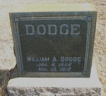 DODGE, WILLIAM A - Prowers County, Colorado   WILLIAM A DODGE - Colorado Gravestone Photos