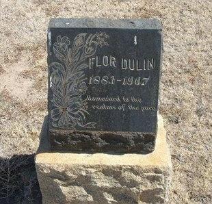 DULIN, FLOR - Prowers County, Colorado   FLOR DULIN - Colorado Gravestone Photos