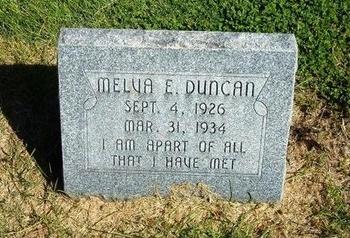 DUNCAN, MELVA ELIZABETH - Prowers County, Colorado   MELVA ELIZABETH DUNCAN - Colorado Gravestone Photos