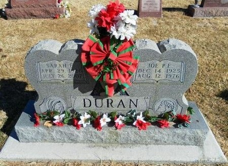 DURAN, JOE P E - Prowers County, Colorado | JOE P E DURAN - Colorado Gravestone Photos