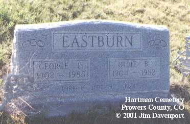 EASTBURN, GEORGE L. - Prowers County, Colorado | GEORGE L. EASTBURN - Colorado Gravestone Photos