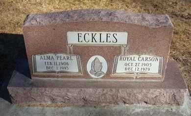 ECKLES, ROYAL CARSON - Prowers County, Colorado | ROYAL CARSON ECKLES - Colorado Gravestone Photos