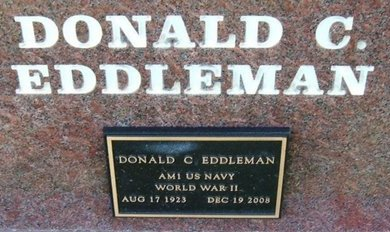 EDDLEMAN (VETERAN WWII), DONALD C - Prowers County, Colorado | DONALD C EDDLEMAN (VETERAN WWII) - Colorado Gravestone Photos