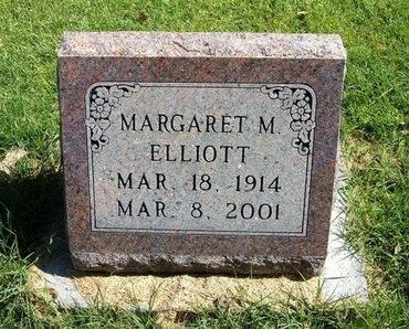 ELLIOTT, MARGARET M - Prowers County, Colorado | MARGARET M ELLIOTT - Colorado Gravestone Photos