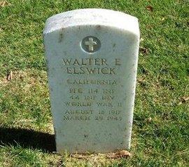 ELSWICK (VETERAN WWII KIA), WALTER E - Prowers County, Colorado | WALTER E ELSWICK (VETERAN WWII KIA) - Colorado Gravestone Photos