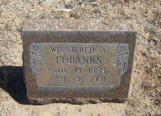 EUBANKS, WINNIFRED - Prowers County, Colorado | WINNIFRED EUBANKS - Colorado Gravestone Photos