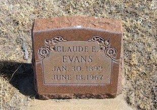 EVANS, CLAUDE E - Prowers County, Colorado | CLAUDE E EVANS - Colorado Gravestone Photos