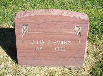 EVANS, JULIA E - Prowers County, Colorado   JULIA E EVANS - Colorado Gravestone Photos