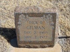 GILMAN, DICK O - Prowers County, Colorado   DICK O GILMAN - Colorado Gravestone Photos