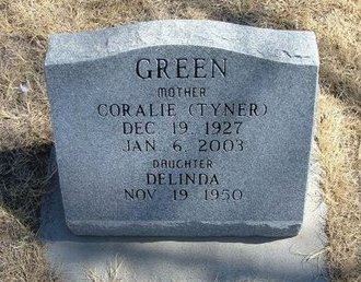 TYNER GREEN, CORALIE - Prowers County, Colorado | CORALIE TYNER GREEN - Colorado Gravestone Photos