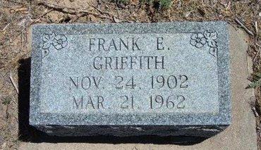 GRIFFITH, FRANK E - Prowers County, Colorado | FRANK E GRIFFITH - Colorado Gravestone Photos