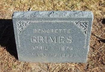 GRIMES, DEMORETTE - Prowers County, Colorado | DEMORETTE GRIMES - Colorado Gravestone Photos