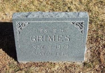 GRIMES, LESLIE H - Prowers County, Colorado | LESLIE H GRIMES - Colorado Gravestone Photos