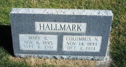HALLMARK, COLUMBUS N - Prowers County, Colorado   COLUMBUS N HALLMARK - Colorado Gravestone Photos