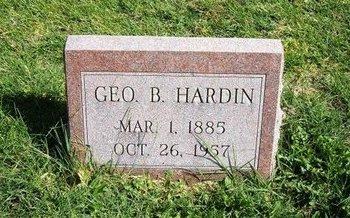 HARDIN, GEORGE BLAINE - Prowers County, Colorado | GEORGE BLAINE HARDIN - Colorado Gravestone Photos