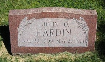 HARDIN, JOHN OLIVER - Prowers County, Colorado | JOHN OLIVER HARDIN - Colorado Gravestone Photos