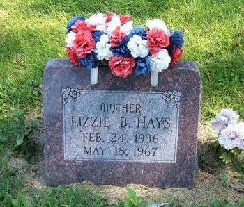 HAYS, LIZZIE B - Prowers County, Colorado | LIZZIE B HAYS - Colorado Gravestone Photos