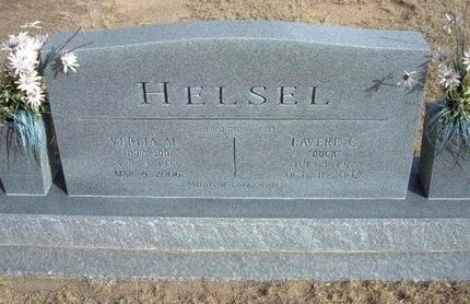 THOMPSON HELSEL, VERLIA L - Prowers County, Colorado   VERLIA L THOMPSON HELSEL - Colorado Gravestone Photos