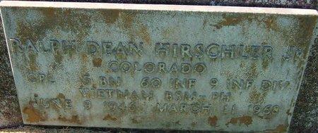 HIRSCHLER, JR (VETERAN VIET), RALPH DEAN - Prowers County, Colorado | RALPH DEAN HIRSCHLER, JR (VETERAN VIET) - Colorado Gravestone Photos
